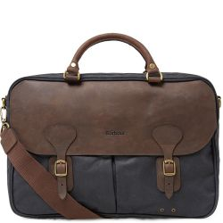 Tasche WAX LEATHER BRIEFCASE - Navy