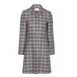 AVOCA - Grey checked Coat