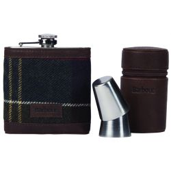 Barbour Geschenkbox Hip Flask Tartan