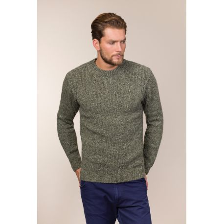 Crew neck sweater - mit Rollkanten