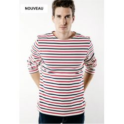 Saint James T-Shirt gestreift Herren – Meridien Tricolore