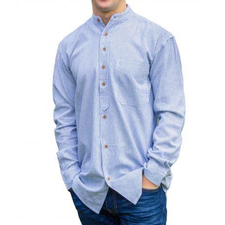 buy online c7db1 16d1a Civilian SL1421 - Stehkragenhemd