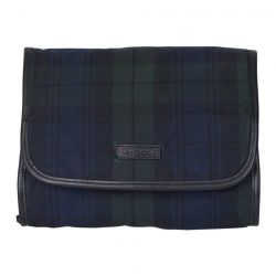Barbour Kulturtasche - Tartan wax hanging Wash Bag