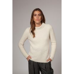 Stitch Mock Neck Sweater - Baby Alpaca