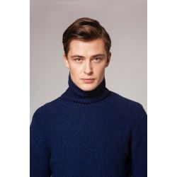 Fisherman Herren Rollkragen Pulli - Polo Neck Sweater with Knit in Elbow Patches