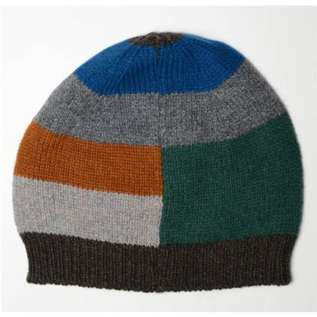 Fisherman Damen Wollmütze - Intarsia Striped Hat
