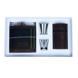 Barbour Geschenkbox - Hip Flask and cups