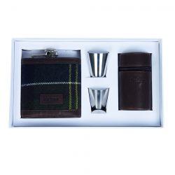 Barbour Geschenkbox - Hip Flask and cups