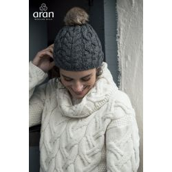 Aran Woolen Mills Damen Mütze - aus Supersoft Merinowolle