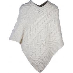 Aran Woolen Mills Damen - Poncho aus Supersoft Merinowolle