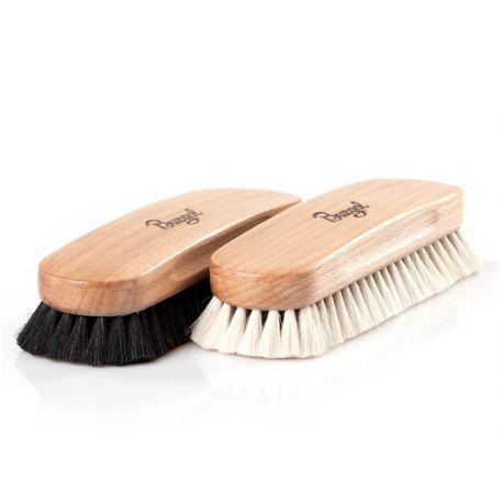 Schuhpflege Ziegenhaarbürste